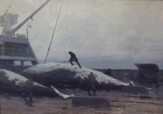 Скитальцев Е. Н. Разделка кита