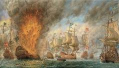 Михайловский В. М. Морская баталия у острова «Oland» в 1676 году
