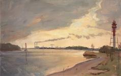 Михайловский В. М. Морской канал. Перед грозой