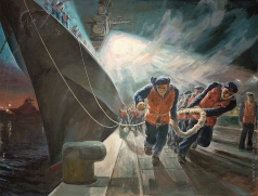 Михайловский В. М. Ночная швартовка. Большой противолодочный корабль