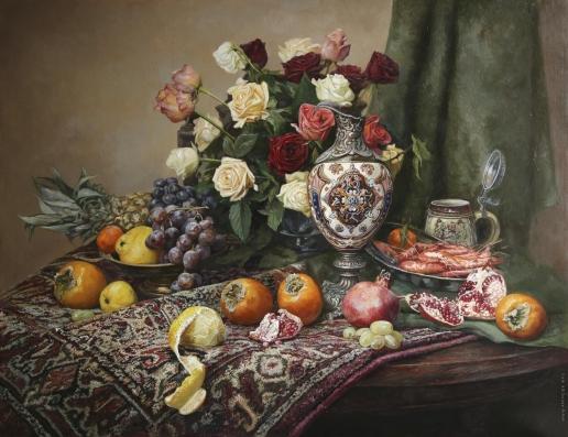 Панов Э. Э. Натюрморт с розами