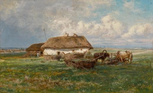 Крачковский И. Е. Хутор с лошадьми