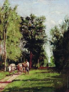 Маковская А. Е. Пейзаж с водовозом