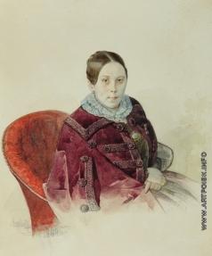 Ясевич К. А. Портрет неизвестной в кресле