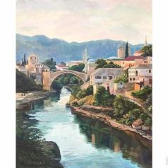 Цветкова Н. А. Мост через Неретву. Вечер