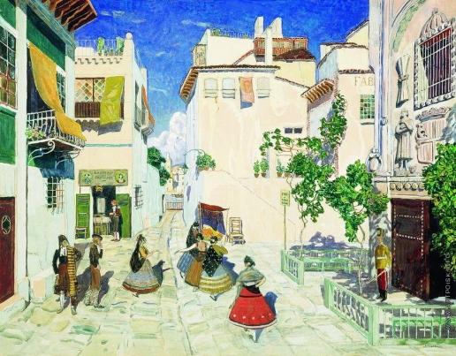 Головин А. Я. Улица в Севилье