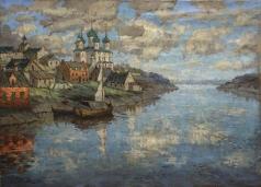 Горбатов К. И. Вид с реки на старый город