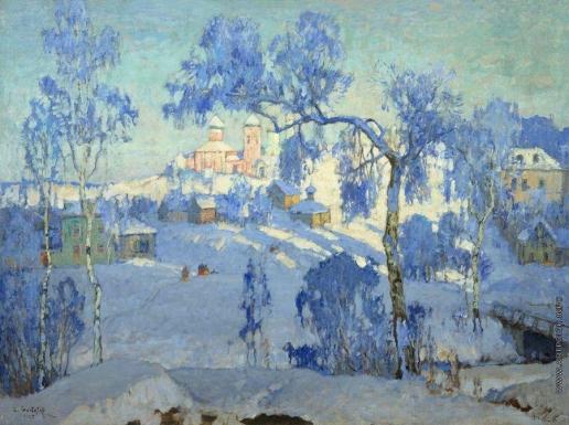 Горбатов К. И. Зимний пейзаж с церковью