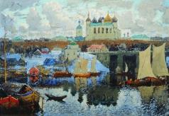 Горбатов К. И. Новгород. Пристань