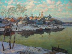 Горбатов К. И. Ранняя весна. Город на реке