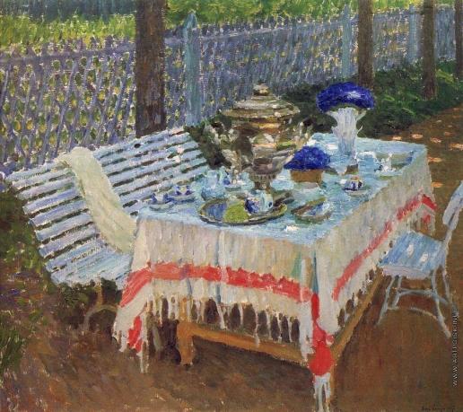 Грабарь И. Э. Утренний чай ( В аллее )