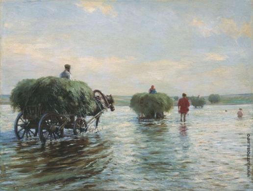 Грандковский Н. К. Возы с сеном
