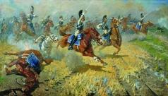 Греков М. Б. Атака лейб-гвардии Кирасирского его величества полка в 1813 году