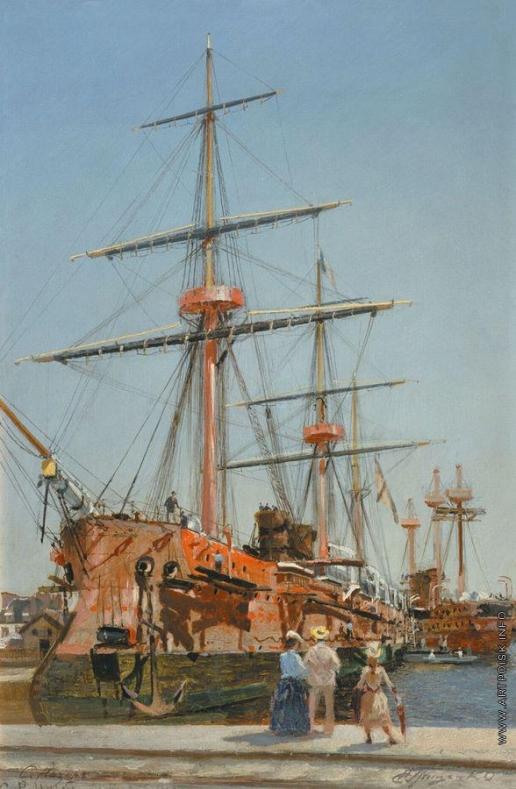 Гриценко Н. Н. Броненосный крейсер I ранга «Адмирал Корнилов» во время постройки в Сен-Назере, в Бретани