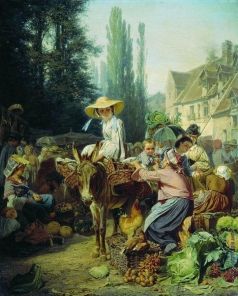 Грузинский П. Н. Рынок в Фонтенебло