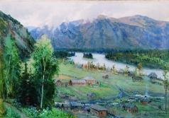 Гуркин Г. И. Село Анос. Вид усадьбы