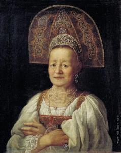 Дрождин П. С. Портрет купчихи в кокошнике