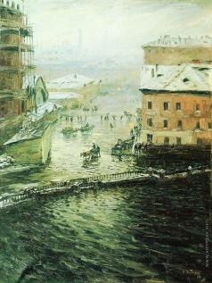 Дубовской Н. Н. В наводнение (Наводнение на Екатерининском канале)