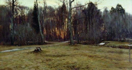 Жуковский С. Ю. Апрельский вечер ( Весна. Вечер )