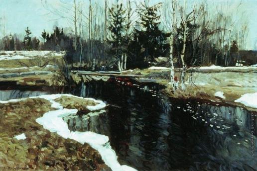Жуковский С. Ю. Весенний бурлящий ручей