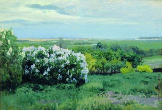 Жуковский С. Ю. Весна. Кусты сирени