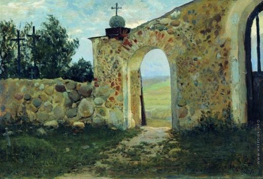 Жуковский С. Ю. Вход на кладбище (Монастырская стена)