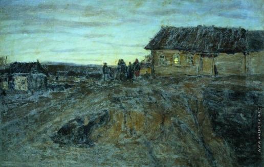 Жуковский С. Ю. Деревня ночью