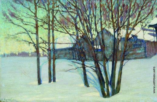 Жуковский С. Ю. Зимний пейзаж с домом