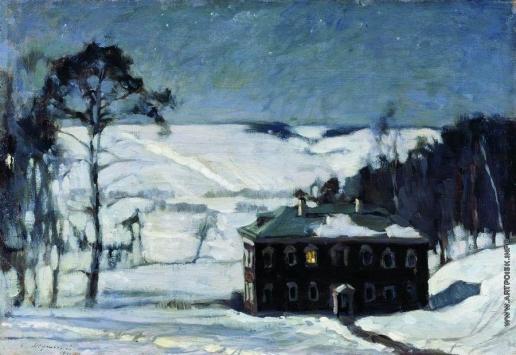 Жуковский С. Ю. Лунная ночь зимой. (Светлая ночь)