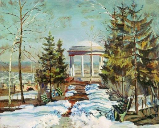Жуковский С. Ю. Ранняя весна (Беседка в парке)