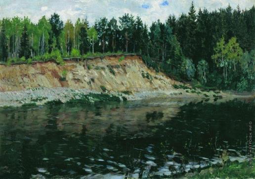 Жуковский С. Ю. Река. Обрывистый берег