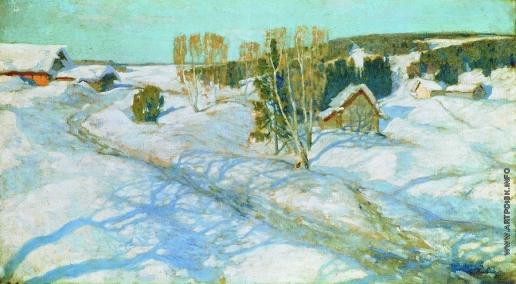Жуковский С. Ю. Синий снег. Весна