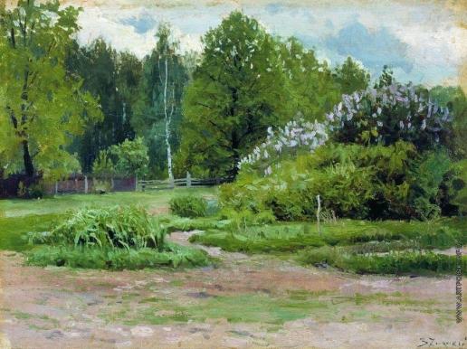 Жуковский С. Ю. Сирень в парке