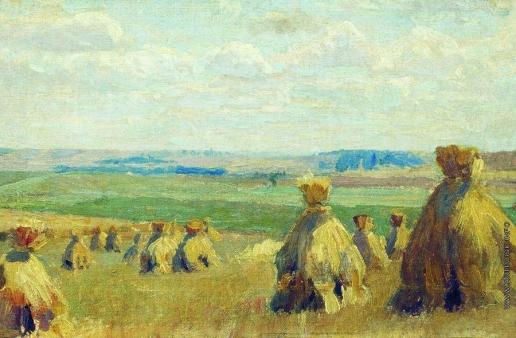 Жуковский С. Ю. Снопы. Сжатое поле