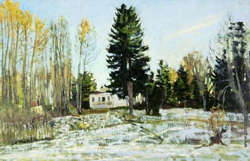 Жуковский С. Ю. Старая усадьба зимой