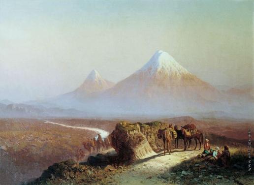 Занковский И. Н. В горах. Вид на Арарат