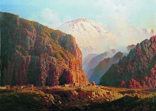 Занковский И. Н. Горная долина, освещенная солнцем