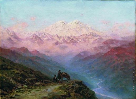 Занковский И. Н. Горный пейзаж