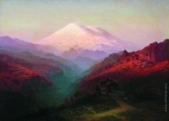 Занковский И. Н. Горный пейзаж со всадниками