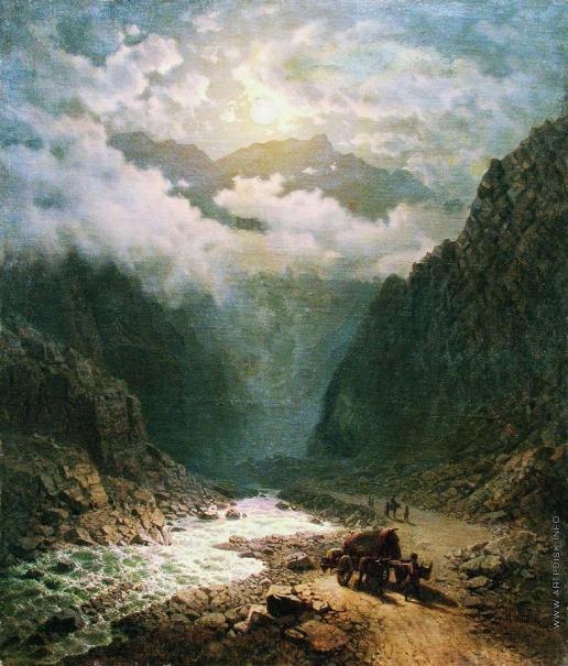 Занковский И. Н. Река в ущелье