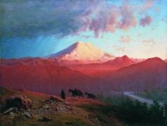 Занковский И. Н. Эльбрус в закатном освещении