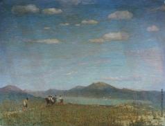 Зарубин В. И. Пейзаж с рекой и рыбаками