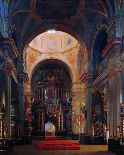 Зарянко С. К. Внутренний вид Никольского собора в Петербурге
