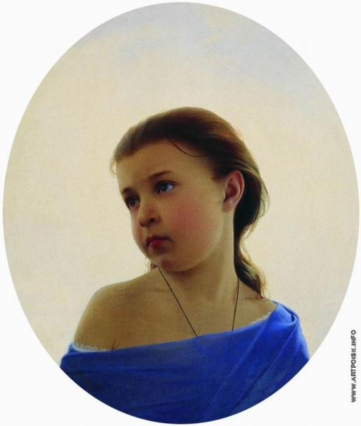 Зарянко С. К. Девочка в голубом платье. Портрет Наталии Сергеевны Зарянко, дочери художника