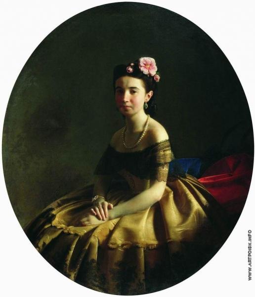 Зарянко С. К. Женский портрет (Княгиня К.А.Абаза?)