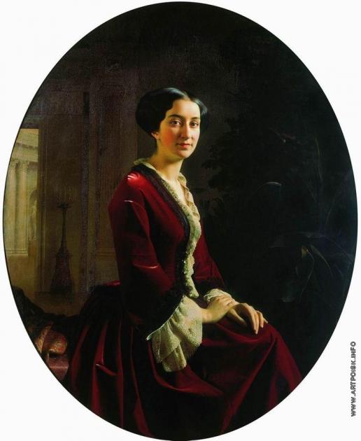 Зарянко С. К. Портрет Елизаветы Христофоровны Абамелек, урожденной Лазаревой