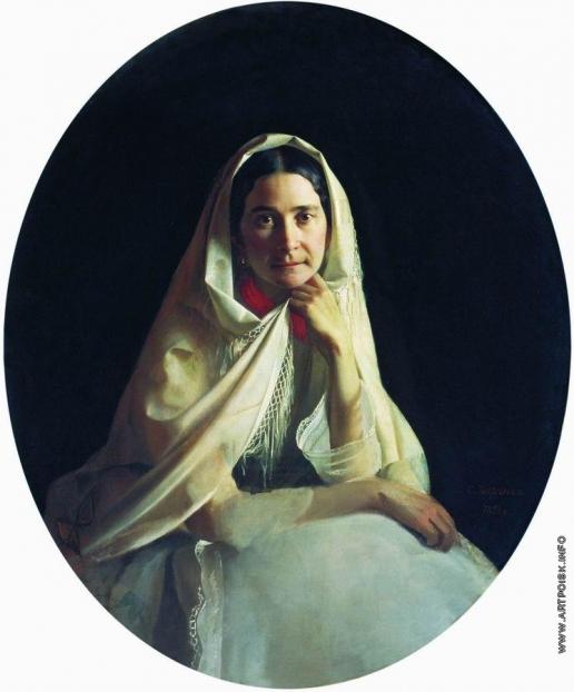 Зарянко С. К. Портрет неизвестной (второй жены Ф.П.Толстого, А.И.Толстой, урожденной Ивановой)