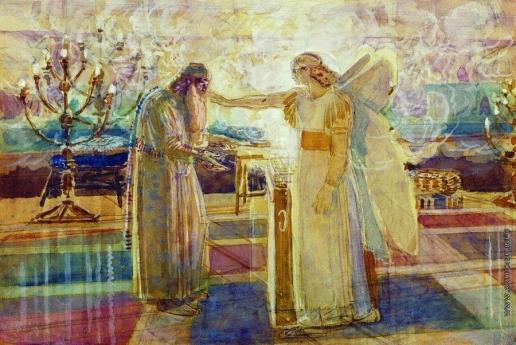Иванов А. А. Архангел Гавриил поражает Захарию немотой