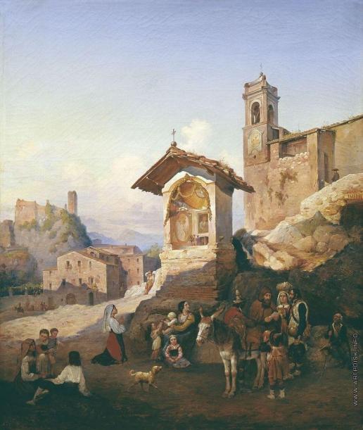 Иванов А. И. Уличная сцена в Италии (Из окрестностей Рима)