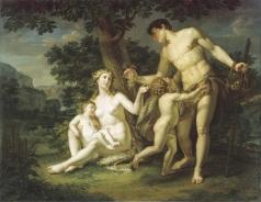 Иванов А. И. Адам и Ева с детьми под деревом
